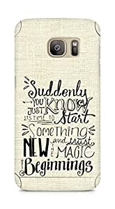 AMEZ start something new and the magic begins Back Cover For Samsung Galaxy S7 Edge