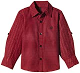 United Colors of Benetton Boys' Shirt (15A5DU65Q200G904_Red and Black Check_M)