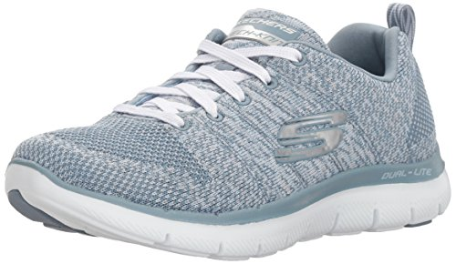 Skechers Damen Flex Appeal 2.0-High Energy Sneaker, Grau (Slate), 39 EU
