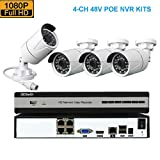 Kit Seguridad CCTV (4CH 1080P DVR + 4 POE Camera 1080P)