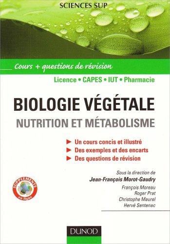 Biologie végétale : Nutrition et métabolisme - Cours et questions de révision