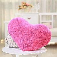 HuaYang 1/5 Colors Soft Sweet Love Heart Shape Fluffy Throw Pillows Cushions(Hot Pink)