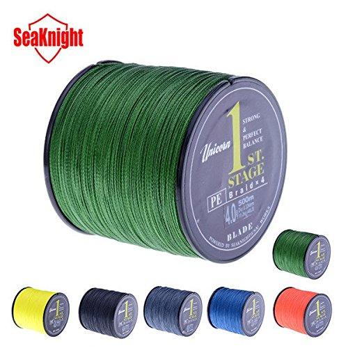 SeaKnight Marke 500M PE Geflochtene Angelschnur Multifilamentsaiten 20-60LB Fisch-Linie