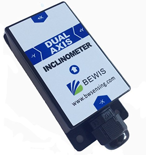 Dual Axis Inclinometer Tilt Angle Sensor BWS3000 with Accuracy 0.001 Degree and RS232 RS485 TTL Output