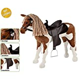 Unbekannt Westernpferd, Westernsattel, 100kg Tragkraft, 50cm Sitzh.: Spielzeug Plüschpferd Western Pferd Reitpferd Reittier mit Sound