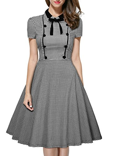 MIUSOL-Womens-1950s-Swing-Casual-Evening-Cap-Sleeve-Dress-Contrast-Collar-Vintage-Shirt-Dress