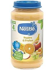 NESTLÉ Purés tarrito de puré de fruta, variedad Postre 6 Frutas, para bebés a