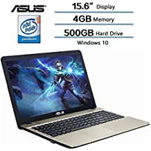 "Asus Flagship High Performance VivoBook 15.6"" Laptop (1366 X 768), Intel Quad Core Pentium N4200 Processor Up To 2.5 GHz, 4GB DDR3L SDRAM RAM, 500GB HDD 5400RPM, Intel HD Graphics 500, Windows 10"