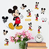 Smart Art Disney Mickey Mouse Wandtattoos Schone Karikatur Wandaufkleber Klassische Tier Wandsticker Home Wanddekorationen