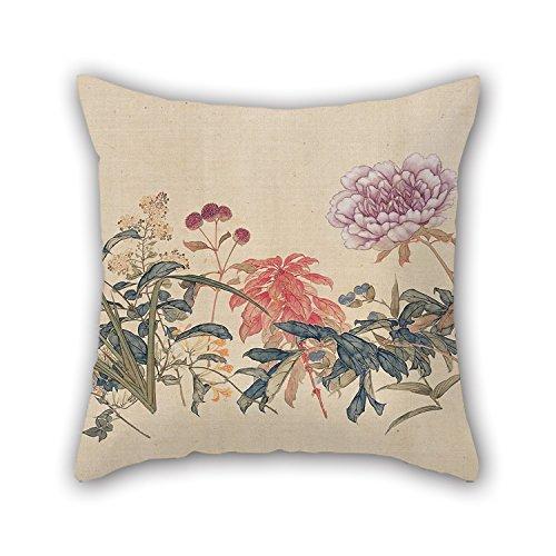 slimmingpiggy-pintura-al-oleo-ju-lian-un-centenar-de-flores-fundas-de-almohada-18-x-18-pulgadas-45-p
