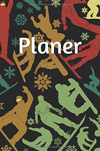 Planer: Wochenplaner I Terminplaner I ca. 15,24 x 22,86 cm I ca. A5 I Softcover I Motiv: Snowboarder
