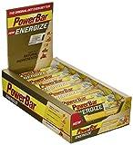 PowerBar Energieriegel Energize mit Magnesium und Natrium – Fitness-Riegel, Kohlenhydrate Riegel mit Hafer, Früchten und Maltodextrin bei erhöhtem Energiebedarf – 25 x 55 g Original Vanilla Almond