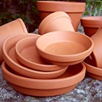 Weston Mill Pottery Round terracotta plant pot saucers - 13cm diameter (pack of 10)
