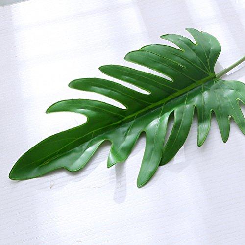 OUNONA 10 stücke Künstliche Lebensechte Split Blatt Philodendron Faux Blätter für Kunststoff Grünpflanzen Home Office Decor