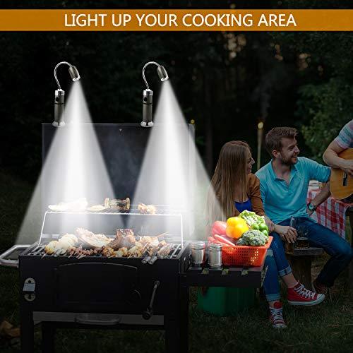 51LhbGOx68L - AimTop LED Grill Licht, 2 Pack Magnetische BBQ Licht Flexibel Grill Lampe 360°Verstellbare Outdoor Grill Lichter Grillen Zubehör mit 5 Beleuchtungsmodi, Grill Taschenlampe Arbeitsleuchte
