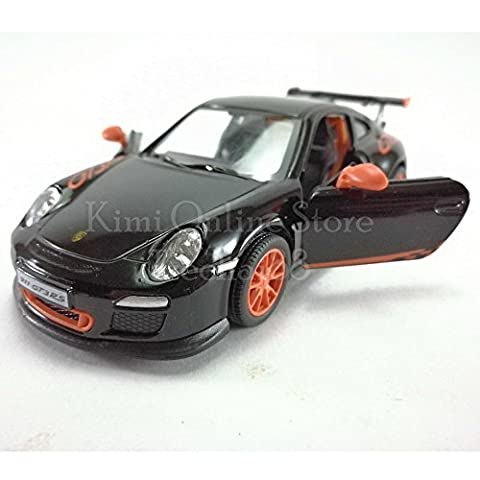 Kinsmart Die-cast Car 1:36 Porsche 911 GT3 RS Car Black Color Model Friction Toys With Box Collection Christmas Gift