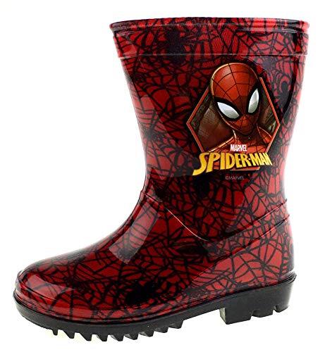 Marvel Spiderman Red Web Wellington Boots