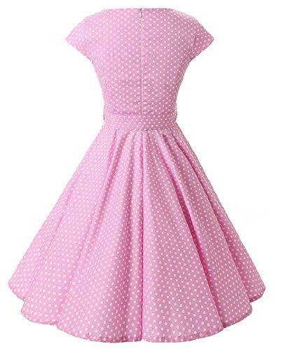 VKStar® Vintage 50s Rockabilly Kleid Damen Polka Dots Audrey Hepburn ...