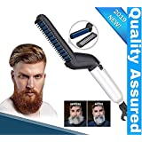 Clomana® Ultra Class Electric Beard/Hair Straightener Care Comb Multifunctional Curly Hair Straightening Curler For DIY Flexible Modelling