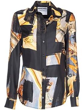 Moschino Camicia Donna A021455601555 Seta Giallo/Nero