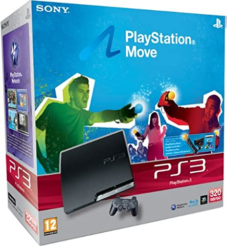 Console PS3 320 Go noire + Playstation Move