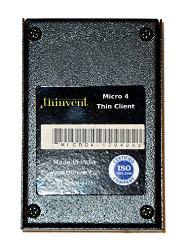 Thinvent Micro 4 2017 Thin Client (Cortex/1GB/8GB/Thinux/Integrated  Graphics), Black