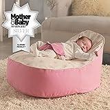 Bambeano® Baby Sitzsack - Pink – Inklusive kostenlosem 'Toddler Bean Bag' Bezug