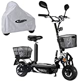 Rolektro eco-Fun 20 V.2 Faltbarer Elektroroller - 20 km/h E-Roller mit Sitz 500W E-Scooter für Erwachsene EU-Zulassung Schwarz
