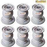 Klaxon Plastic Door Catcher Magnet Set (Off White, Pack of 6)