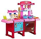 Spielküche Kinderküche Rosa Kinder Küche mit Zubehör Töpfe Pfannen