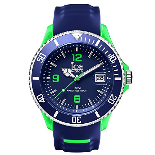 Ice-Watch SR.3H.BGN.BB.S.15 Men's Ice-Sporty Big Horloge Blue Silicone Band Blue and Green Watch