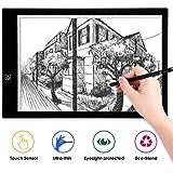 AGM - Tableta Luminosa A3 con luz LED, luminosidad Ajustable, Ultrafina, Cable USB, Control táctil, Copia, Dibujo, Tableta, para bocetos, Arquitectura, caligrafía