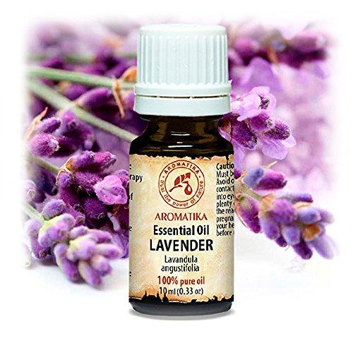 Lavendel Öl 100% Natürlich Ätherisches 10ml - Lavandula Angustifolia - Bulgarien - Besten für Guten Schlaf - Schönheit - Aromatherapie - Entspannung - Spa - Aroma Diffuser - Duftlampe - von Aromatika -