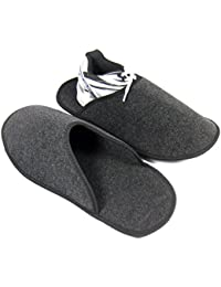 Sur-chaussons d'Intérieur Légers pour Chaussures pantoufles musée Anthracite éventuellement avec / sans ABS ressenti unique