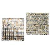 YIKUI Kiesel, Mosaik, Matte, 30 * 10Cm Natürliche Unregelmäßige Steine Für Den Garten, Bad, Gepflastert, 10 Stück