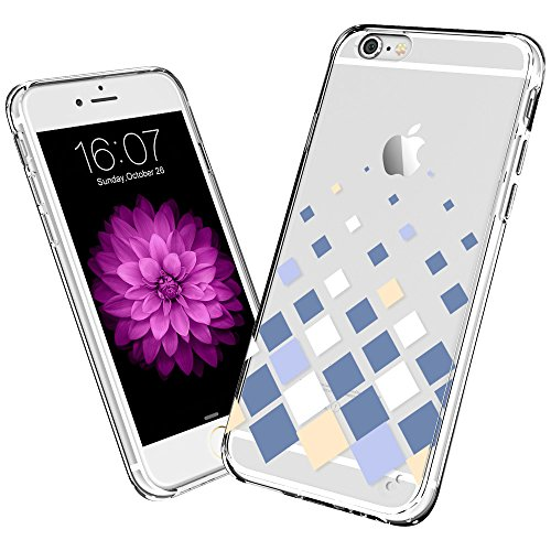 Electronic Silk Road iPhone 6 Plus Case, ESR The Beat Serie Schutzhülle Bumper [Kratzfest] [passgenau] transluzent Hartschale Cover für 14 cm iPhone 6 Plus (die Checkers) Fall Transparent Checker