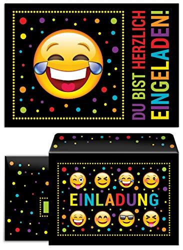 12 Einladungskarten incl. 12 Umschläge zum Kindergeburtstag Einladungen Geburtstag Mädchen Jungen Jungs Nr. 01
