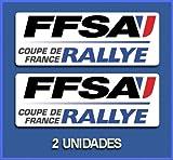 Ecoshirt UJ-GKV8-DG1W Autocollants Ffsa Dp700 Rallye