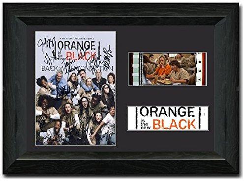 Schwarz 35mm Film Cell Display gerahmt Atemberaubende Display unterzeichnet Collectible S2 (Chapman Orange Ist Das Neue Schwarz)