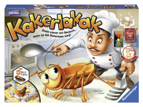 "Ravensburger 22212 4 ""Kakerlakak"" Game"