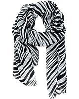 niceEshop(TM) Fashion Chiffon Zebra Animal Print Scarf Large Long Silk Scarf