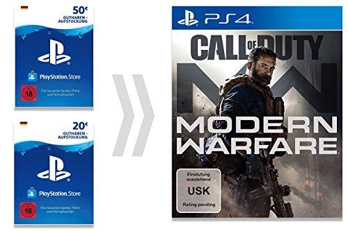 PSN Guthaben-Aufladung für Call of Duty - Modern Warfare | PS4 Download Code - deutsches Konto - Digital Standard Edition | PS4 Download Code - deutsches Konto