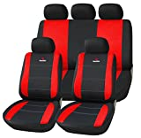 SITU universal Sitzbezüge für Auto Schonbezug Schoner Komplettset schwarz/rot SCSC0113