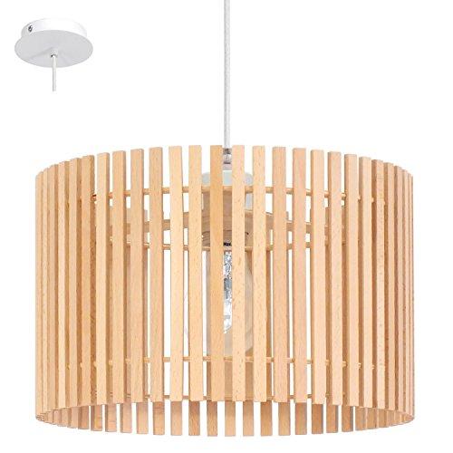Haute Qualité Suspension en Bois Ronde Lampes Abat-Jour Suspension Éclairage Eglo 94028
