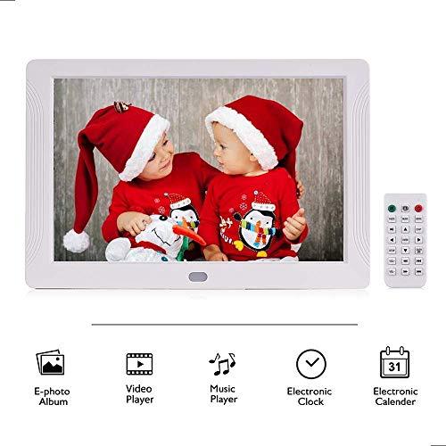 Andoer P701 7 Pulgadas Marco de Fotos Digital LED Álbum Electrónico de Escritorio 1280 * 800 HD 16: 9 la Pantalla Admite Música/Video/Reloj/Funciones de Calendario con Control Remoto