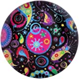 Morella Damen Glas Click-Button Druckknopf Paisley Muster bunt