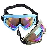 Lommer Schutzbrillen für Nerf, 2 Stück Paar Schutzbrillen Zum Schutz der Augen Schutzbrille Goggles Gläser Glasses für Nerf, CS, Paintball Spiele (Armeegrün, Hellblau)