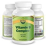 Bester Vitamin B-Komplex, Enthält Alle 8 B-Vitamine mit B1, B2, B3, B4, B5, B6, B7 (Biotin), B9 (Folsäure) & B12 (Cobalamin), Für Männer & Frauen Geeignet, Diese Tägliche B-Komplex-Ergänzung Steigert Ihre Energie und Entspannt, Unterstützt die Schilddrüse, 100% Geld Zurück Garantie, Hergestellt in GB, 3 Monate Vorrat, 180 Tabletten