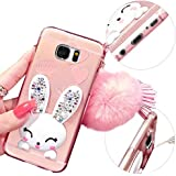 MOMDAD Case TPU Silicone pour Samsung Galaxy S7 Edge Coque Case Cover Housse de protection Shell avec mince motif d'impression Coque Housse Etui de protection en Silicone Protection Case pour Samsung Galaxy S7 Edge Coque en silicone TPU de Protection Absorption des Chocs Pare-Chocs housse Crystal-Rose