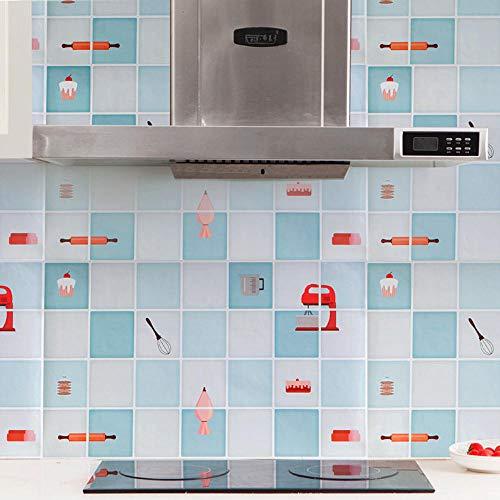 Wasserdichte Küche Öl-Beweis abnehmbare Wandaufkleber Art Deco Abziehbild Wandbild Schlafzimmer Wohnzimmer Dekoration